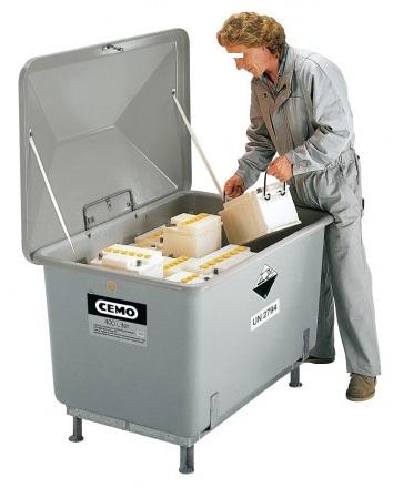 CEMO KFZ-Altbatteriebehälter
