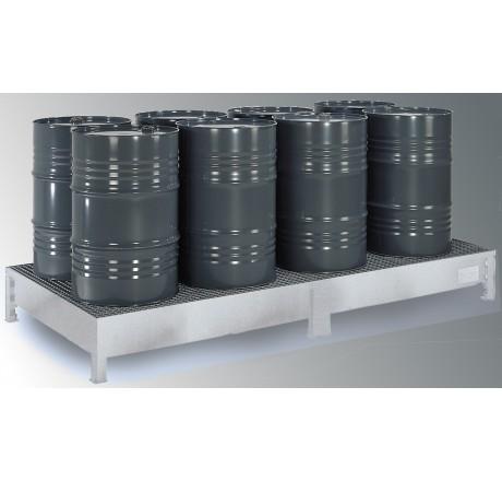 CEMO Stahl Auffangwanne für 8 Fässer